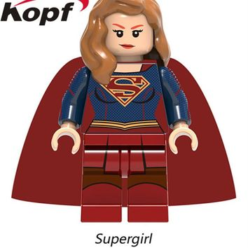 Single Sale Supergirl Wonder Woman Thor Superman The Flash Hulk Building Blocks Super Heroes Bricks Children Gift Toys XH 759