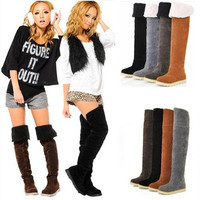 Women's Winter Warm Snow Boots Two-Way Over Knee Shoes Basical Jackboots = 1945754948