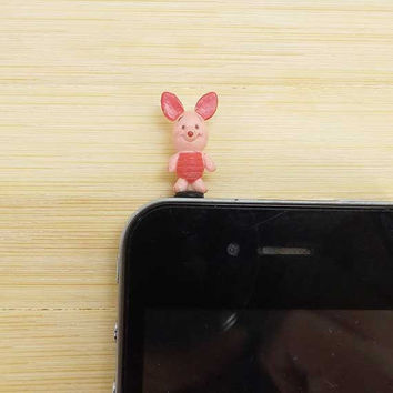 20% Off Lovely Piglet Pink Pig Anti Dust Plug - 3.5mm Phone Dust Stopper Earphone Cap Headphone Jack Charm for iPhone 4 4S 5 HTC Samsung