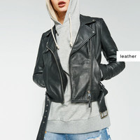 BASIC LEATHER JACKET - View All-OUTERWEAR-WOMAN | ZARA United States