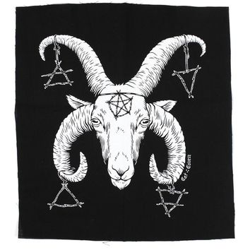 Horned Goat God Large Fabric Back Patch