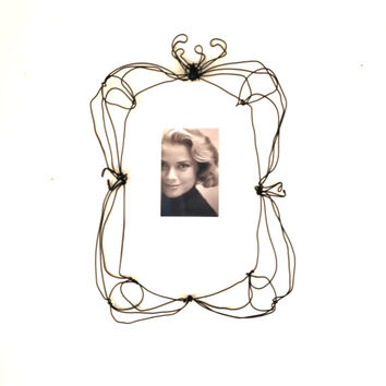 Wire wall frame - large wire sculpture  - Handmade lace frame - wall decor - gift idea