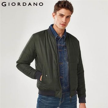 Trendy Giordano Men Bomber Jacket Men Thick Quilted Zip Bomber Jacket Stand Collar Ribbed Cuffs Pilot Jacket Pockets Jaqueta Masculina AT_94_13
