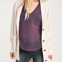 Buttoned Chunky Knit Cardigan | Wet Seal