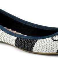Sperry Top-Sider Nahla Woven Ballet Flat Navy/WhiteWoven, Size 8M  Women's Shoes