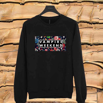 Vampire Weekend Floral sweater Sweatshirt Crewneck Men or Women Unisex Size