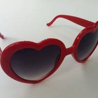 Rave Light Show Glasses - Red heart