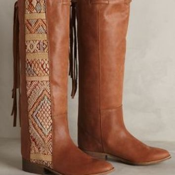 Howsty Aisha Tapestry Boots by Anthropologie Leather