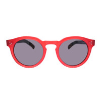 Illesteva Leonard II Red & Black Sunglasses - ShopBAZAAR