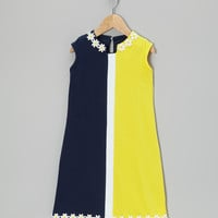 Navy & Yellow Makiko Daisy Dress - Infant & Girls | something special every day