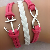 Beautiful Anchor Number Eight Multilayer Christmas Bracelet