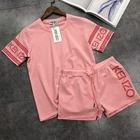 KENZO 2018 counter latest women's tide brand fashionable sport suit F-AA-XDD pink