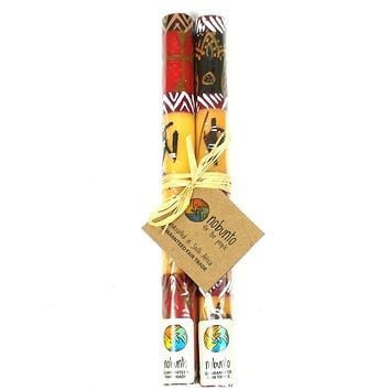 Tall Hand Painted Taper Candles - Pair - Damisi Design