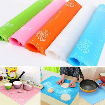DCCKL72 hot sell High Temperature Silicone Rolling Pad Mat With a Scale Cake Placemat Baking Mat