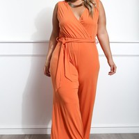 New Moves Plus Size Palazzo Jumpsuit Dresses+ GS-LOVE