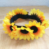 Sunflower Elastic Hair Tie