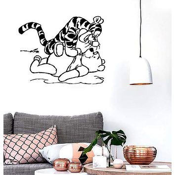 Wall Stickers Vinyl Decal Winnie The Pooh Cartoon Nice Room Decor (ig1048)