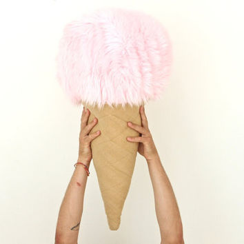 bubble gum flavor oversized ice cream pillow by napkinitems