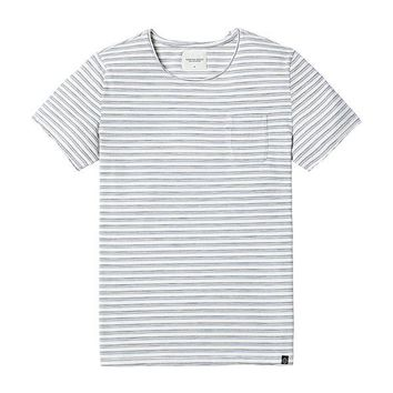 Bicolored Striped Pocket Tee