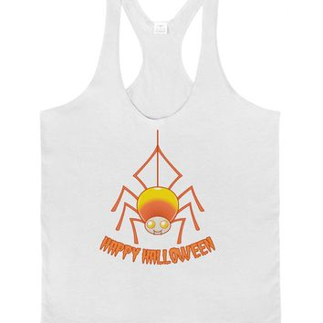 Cute Candy Corn Spider - Happy Halloween Mens String Tank Top