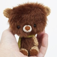 ilun miniature ooak teddy bear collectible toy by knittingdreams