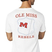 Ole Miss Flag Tee Shirt in White by Southern Tide - FINAL SALE