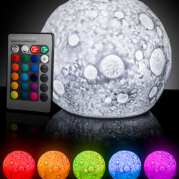 Lunar Light Show: Glowing Moon mood lamp.