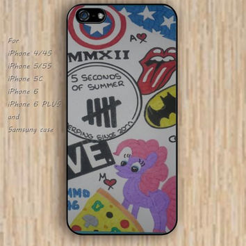 iPhone 5s 6 case collage Dream catcher colorful cartoon loves horse phone case iphone case,ipod case,samsung galaxy case available plastic rubber case waterproof B440