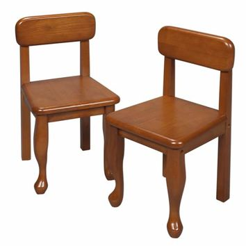 Gift Mark 3003H Queen Anne Two Chair Set - Honey