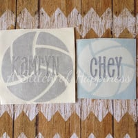 Personalized Volleyball Car Decal - Custom Volleyball Car Sticker