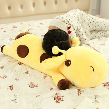 1pc Plush Lie Giraffe Pillow Staffed  Plush Toy Nap Pillow