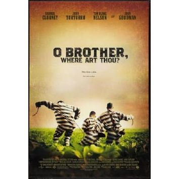 O Brother Where Art Thou poster Metal Sign Wall Art 8in x 12in