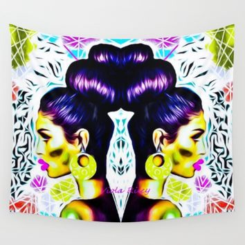QUEEN OF UPDO Wall Tapestry by violajohnsonriley