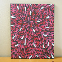 Painting Reds Aboriginal Inspired 16 x 20 by Acires on Etsy