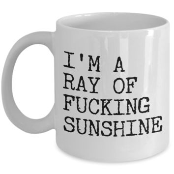 I'm a Ray of Fucking Sunshine Rude Coffee Mug Ceramic Coffee Cup