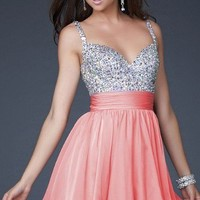 New Sequins&Chiffon V-neck Above Knee Cocktail Prom Evening Dress