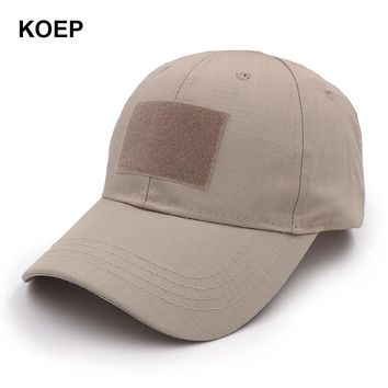 Trendy Winter Jacket KOEP 2018 Outdoor Sport Snapback Caps Camouflage Hat Simplicity Tactical Army Camo Hunting Cap Hat For Men Adult Training Cap AT_92_12