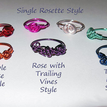 Set of 5 Bridesmaids Rings