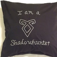 Mortal Instruments Inspired, I am a Shadowhunter, Throw Pillow