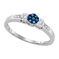 Diamond Fashion Ring in 10k White Gold 0.21 ctw