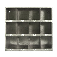 Decorative Home Accent Galvanized Metal Wall Cubby Storage With Number Labels