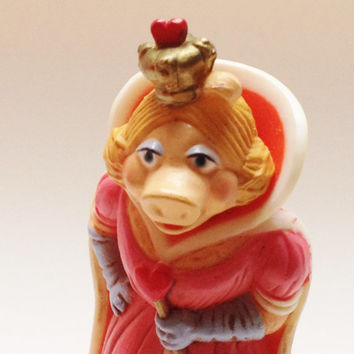Vintage Miss Piggy Figure Jim Henson's the Muppets Hallmark Merry Miniature 1981 Great Valentine's Day gift