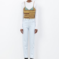 Totokaelo - Eckhaus Latta Yellow Sub-Pin-Up Tank - $249.60