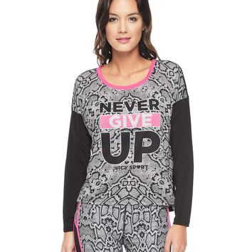 Never Give Up Sporty Python Top by Juicy Couture