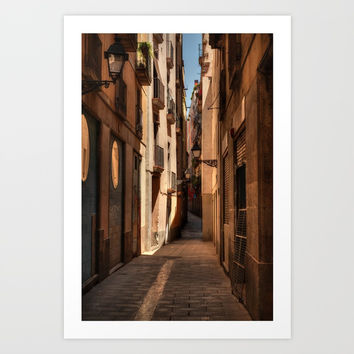 Barcelona - Gothic Quarter 004 Art Print by Lance Vaughn