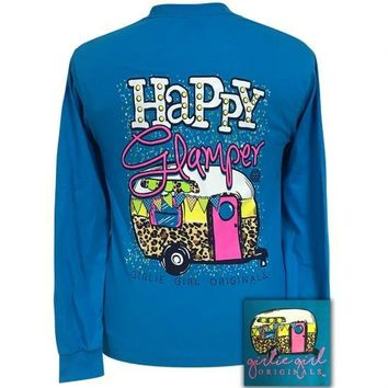 Girlie Girl Originals Preppy Happy Glamper Long Sleeve T-Shirt