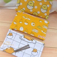 Gudetama egg canvas Pencil Case Cute Kawaii Pen Bag makeup handbag cosmetic bag phone bags kids storage bags new