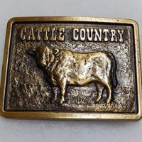 Cattle Country a Cargill Nutrena Feeds Limited Edition Western Belt Buckle