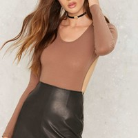 Nasty Gal See You Around Cutout Bodysuit - Brown
