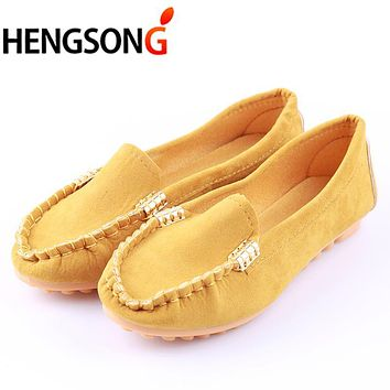 women flats shoes female casual flat loafers shoes slips leather black flat women's Spring Autumn Soft Round Toe Shoes PA642712